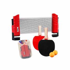 KIT TENIS DE MESA PALAS RED Y BOLAS SOFTEE